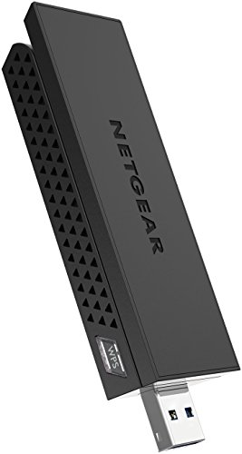 NETGEAR AC1200 Wi-Fi USB Adapter High Gain Dual Band USB 3.0 (A6210-100PAS), Black