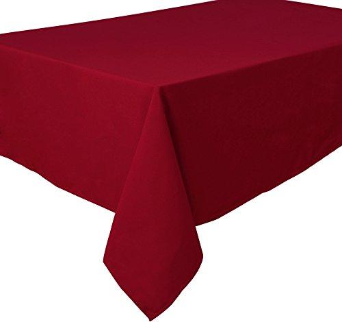 Home Direct Qualitäts Tischdecke Textil Eckig 140 x 240 cm, Farbe wählbar Dunkelrot Bordeaux