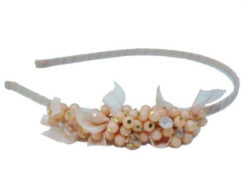 rougecaramel Haarreif/Haarband multiperles mit kleinen N & # X153; UDS 540-–Puderrosa
