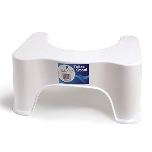 Prämie Toilettenhocker weiß - Wc Hocker - Toiletten-Stuhl - Hocker für Erwachsene & Kinder Prävention gegen Hämorrhoiden, Verstopfung, Reizdarm - 44,5cm x 28cm x 21cm - Premium Toilet Stool Step