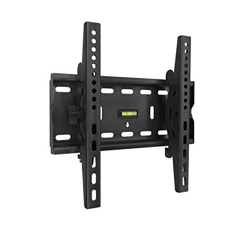 TooQ LP4537T-B, Soporte Fijo Inclinable de Pared para Monitor/TV/LED de 32 a 55, Negro