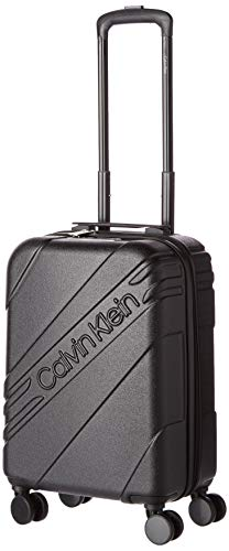 Calvin Klein Cheer Hardside Spinner Luggage with TSA Lock, Black, 20 Inch