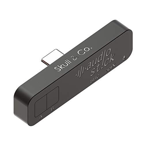 Skull & Co. AudioStick Bluetooth 5.0 Wireless Audio Transmitter Adapter Niedrige Latenzzeit für Nintendo Switch/Lite, PS4 / andere Geräte - Schwarz