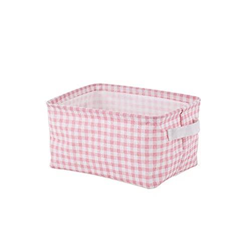 Cesta de almacenamiento Caja de almacenamiento de la cesta de la canasta de la caja de la ropa de algodón Caja de almacenamiento de la caja de escritorio Caja de almacenamiento de escombros de escrito