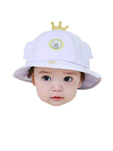 AQ1 Chapeau Bebe Respirant Chapeau de Protection Solaire d'été à Section mince-0-6 Mois_ Baby Violet
