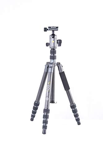 Vanguard VEO2GO265HCBM Carbon Fiber Travel Tripod with Ball Head for Sony, Nikon, Canon, Fujifilm Mirrorless, Compact System Camera (CSC), DSLR