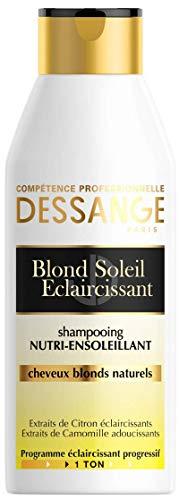 Dessange – Blond Soleil aufhellendes Shampoo für natürliches Blond – 250 ml – 1 Stück