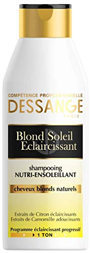 Dessange Blond Soleil Éclaircissant Shampooing Nutri-Ensoleillant - Pour Cheveux Blonds Naturels - 1x 250 ml