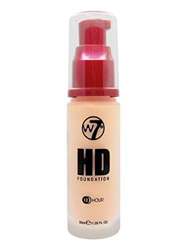 W7 | Foundation | HD Foundation - Butter Cream | Light to Medium Coverage, Lightweight and Long Lasting
