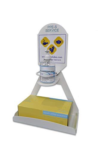 PPE-S-SERVICE, distributore da tavolo o parete per dispositivi di protezione individuale (BIANCO LUCIDO)