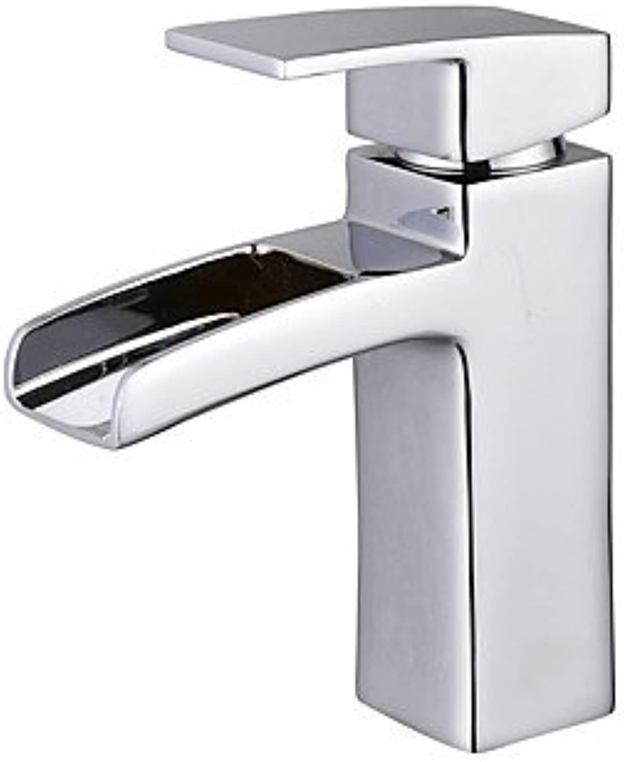 TSAR003 Traditional Style Deck Mounted Waterfall With Ceramic Valve Single Handle One Hole For Chrome Bathroom Sink Faucet