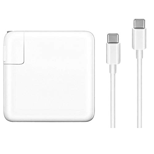 Replacement Charger for MacBook Pro, 61W USB-C to USB-C Ac Adapter Power Charger for MacBook Pro 12 inch 13 inch