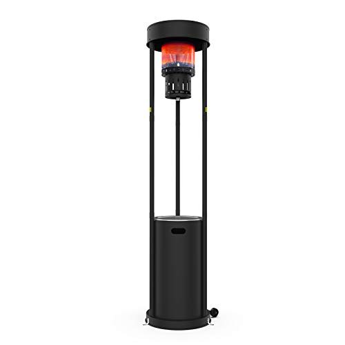Terra Hiker 16 kW (55,000 BTUs) Patio Gas Heater, Real Frame Outdoor Heater, Standing Garden Heater with Wheels for Restaurant, Bar, 15-Minute Assembly, Using Propane Gas (215 cm/84.6 in Height)