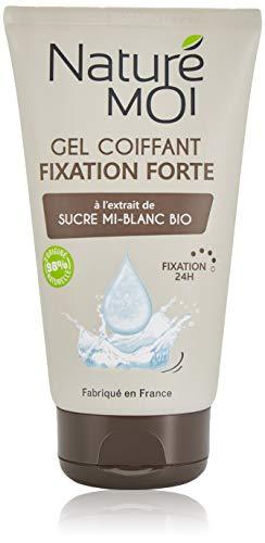 Naturé Moi – Gel coiffant fixation forte à l'extrait de sucre mi-blanc bio – Non gras et non collant – 150ml