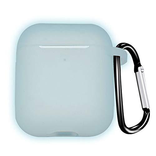HONGTAI Manga Bluetooth Wireless Headset de Silicona for el Airpods 2 1 Propósito Caso General anticaída Shell Almacenamiento (Color : Blue)