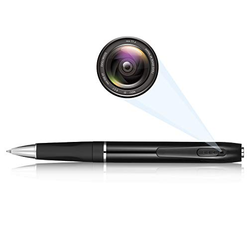 Spy Camera Mini Hidden Camera Pen HD 1080P Video Recorder, Spy Gear Body Camera Portable Pocket Camera with 32GB SD Card for Business Conference and Security.