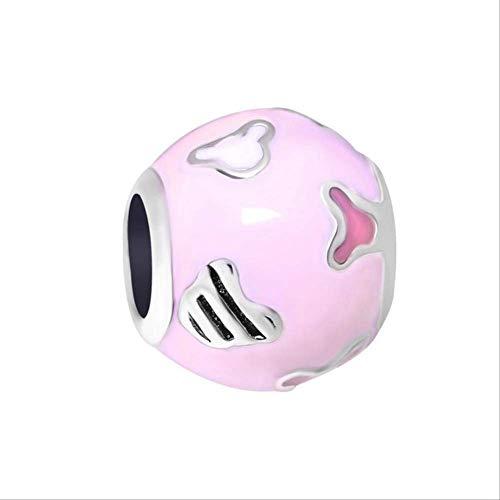 HUASE Accesorios Aleación Bead Tetera Tiger Rabbit Mouse Charm Fit Pandora Pulsera Collar DIYA783