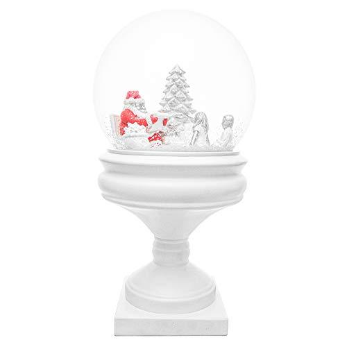 mamoki Bola de Navidad XXL | Bola de nieve de alta calidad 29 cm de altura | Diseñado en Berlín | Papá Noel novedad Navidad regalo único