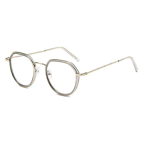 Gafas de miopía anti rayos azules para gafas ópticas de lente redonda con marco metálico unisex