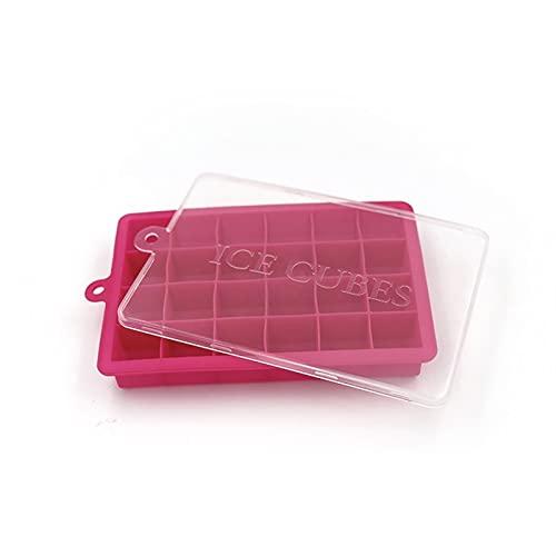 ZKP Paquete de 3 bandejas de silicona para cubitos de hielo con tapa, 24 cavidades de cubitos de hielo moldes para cócteles, whisky, caramelos, chocolate y más (color: B)