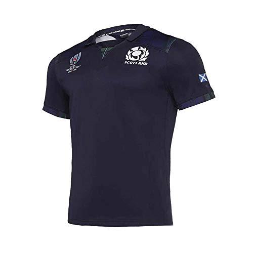 2019 Schottland Weltmeisterschaft Rugby Trikot, Japan Weltmeisterschaft Fußball Polo Shirt T-Shirts, Pro Sports Atmungsaktive Freizeit T-Shirt Fußball Shirt Polo Shirt-XXXL