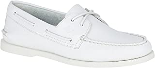 SPERRY Men's A/O 2-Eye Boat Shoe, White, 15