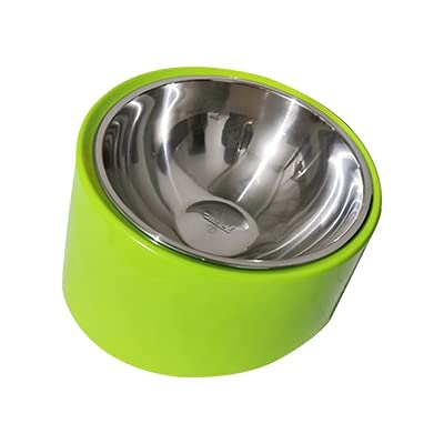 LANHUAN Bere Ciotole for Cani Cats Pet Food Bowl (Color : Green, Size : 17x9cm)