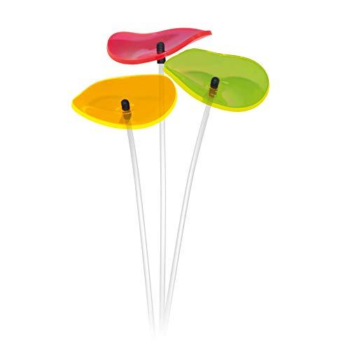 Cazador-del-sol ® | Lucille | 3 Stück geschwungene Sonnenfänger bunt, 40 cm hoch