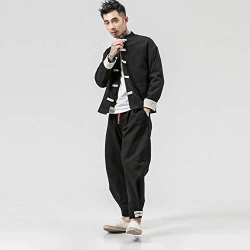 YOUTH BURST Herren Tai Chi Kung Fu Uniform Leinenmäntel China Handgemachte Herbst Und Winter Baumwolle Und Leinen Kleidung Wing Chun Kleidung Tang Shirt,XXXXXL