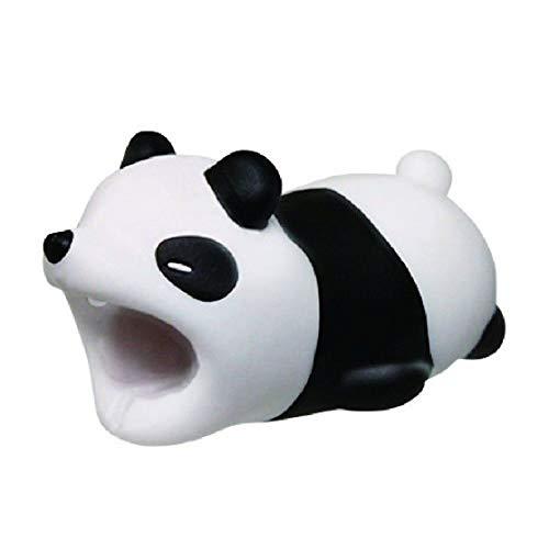 Cosanter Cable Protector Animal Design pour iPhone, Protège Le câble et empêche Les ruptures(Panda)