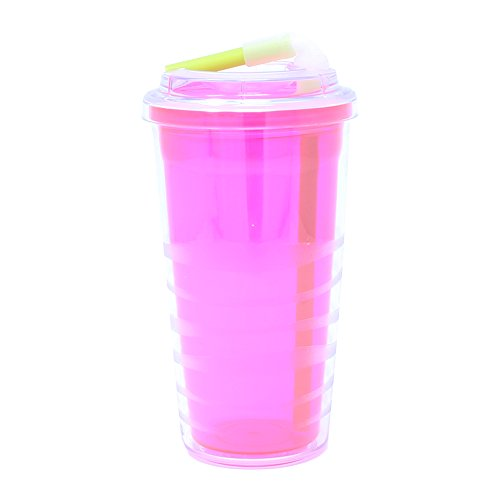20-Ounce Wilton Copco 2510-2192 Hydra Reusable Tritan Water Bottle with Spill Resistant Lid and Non-Slip Sleeve Pink