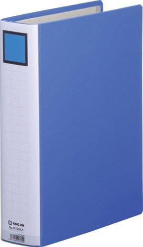 キングジム ファイル キングファイル スーパードッチ A4 500枚収納 両開き 2475GXAアオ