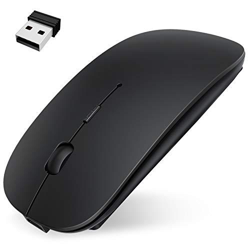 Bluetooth マウス ワイヤレスマウス Hokonui 小型 無線 マウス 超薄型 静音 2.4Ghz 800/1200/1600DPI 高精度 持ち運び便利 充電式 省エネモード 持ち運び便利 IOS/iPadOS/MacOS/Windows/Surface/Microsoft Proに対応 (ブラック)