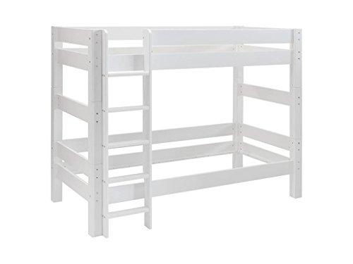 DOLPHIN Moby Etagenbett Weiß mit gerader Leiter Kiefer massiv 8002-5