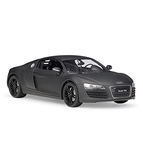 Kit Giocattoli Auto in Metallo per Audi R8 V10 2016 1:24 Simulazione in Lega di Metallo Modello di Auto Collezione di Regali per Bambini Meraviglioso Regalo Festa (Colore : Matte Black)
