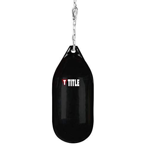 Title Boxing Wave H2O Cylindrical Heavy Bag, Black, 160 lbs