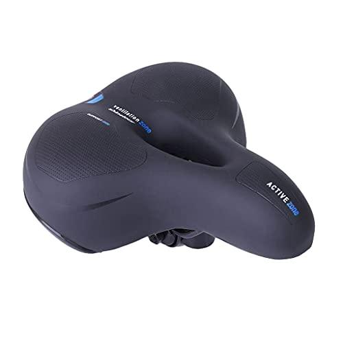 M-JJZX Sillón de Bicicletas para Bicicletas, Asiento de Bicicleta Impermeable cómodo cojín Suave para Bicicleta de Carretera, Crucero, Bicicleta de montaña, Bicicleta de Ejercicios (Color : Blue)