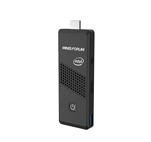 Mini-PC, S40 Intel Celoren Processor N4000 4GB DDR4 / 64GB eMMC 4K@60HZ PC-Stick mit Windows 10 Pro, HDMI-und Mini DP Anschluss, USB 3.0, Bluetooth 5.0, Auto Power On