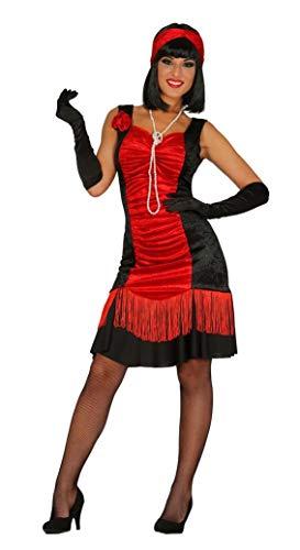 rotes Charleston Kleid Karneval 20er Jahre Motto Party Kostüm für Damen Gr. M-XL, Größe:XL