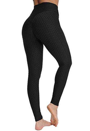 FITTOO Leggins Sportivi Donna Push up Pantaloni Tuta Yoga Pants Sexy Fitness Ginnastica Alta Elastico, S, Nero