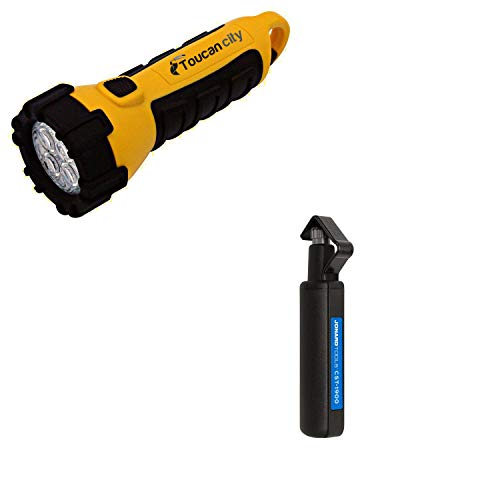 Toucan City LED Flashlight and Jonard Round Cable Stripper -1900