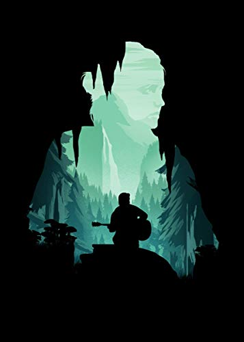 empty Ellie The Last of US 2 Fine Art Wall Poster Sticker Frameless 60cm X 90cm(24X36 Inch)