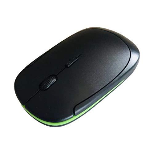 Morninganswer Diseño ergonómico cómodo 2,4 GHz ultradelgado Mini 1600 dpi USB ratón óptico inalámbrico ratón de Ordenador para PC portátil JP-350