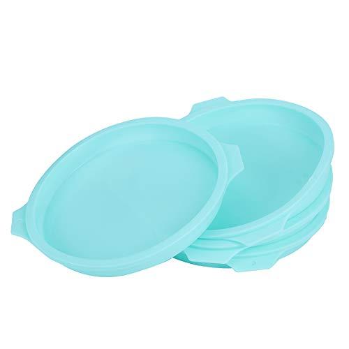 Molde redondo para tartas Bandeja para hornear de silicona de 8 pulgadas Fácil de limpiar y fácil de soltar Accesorios Pastel de color Sandwich Cake Pizza Corteza(Paquete de 4 verdes 83065-A)