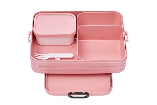 Mepal Bento-Lunchbox Take A Break Nordic pink Large – Brotdose mit Fächern, geeignet für bis zu 8 Butterbrote, TPE/pp/abs, Rosa, 0 mm