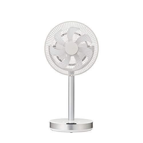 Kamome Ventilator Office, Standventilator, extrem leise: 9,3dB, stufenloser Luftstrom bis 17m, horizontal und vertikal, Timer, Abschaltautomatik, Fach für Aroma-Öl, mit Fernbedienung
