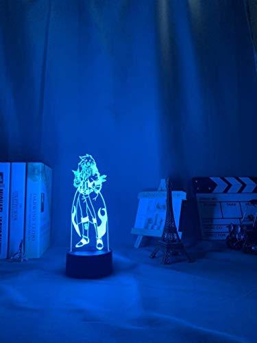 Gurren & Lagann Simon - Lámpara de noche para decoración de dormitorio, lámpara de noche Tengen Toppa Gurren y Lagann para regalo de acrílico de neón y control táctil