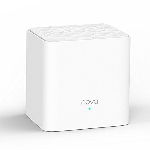 Tenda Nova MW3-1 Système Wi-FI Mesh pour Toute la Maison: Dispositif Ajouté pour L'Extension du Réseau du MW3, 2 Ports Ethernet, Réseau d'invité, Contrôle Parental, Installation Facile (Pack de 1)
