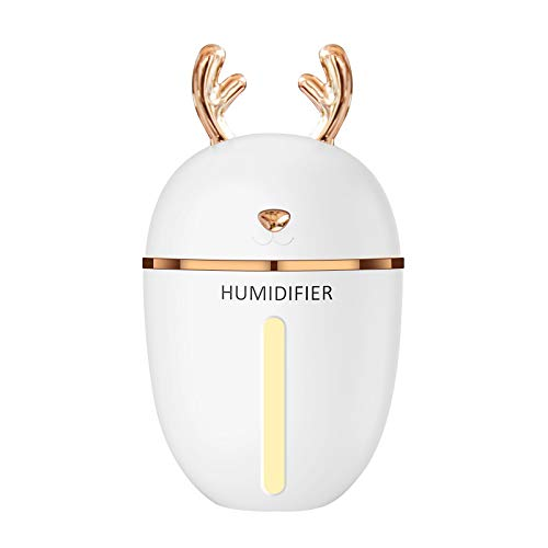 Mettime Humidifier Mini Moisture Sprayer with Quiet Operation USB for Home, Bedroom, Office, Car Travel, Yoga, Baby Room (Without battery)
