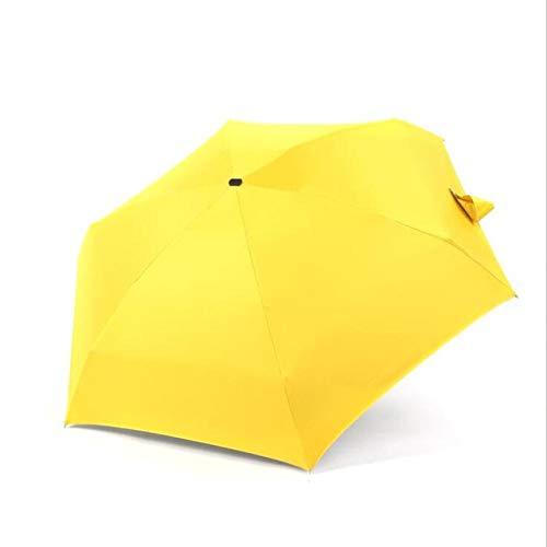 CDFD 180g Mini Fresh Sonnenschutz 5-Fach Sonnenschirm Innovativer ultraleichter Taschenklappschirm 18 Styles, Gelb,schwarz
